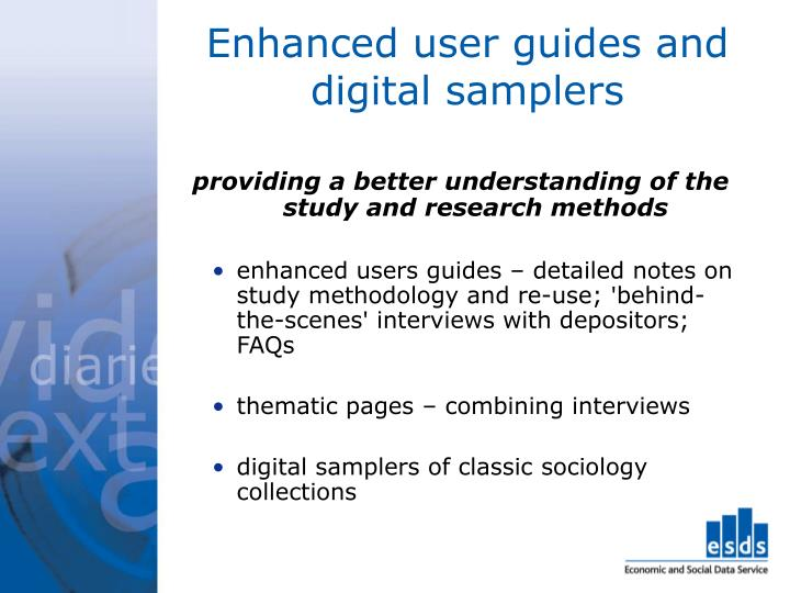 Enhanced user guides and