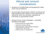 ethical and consent considerations
