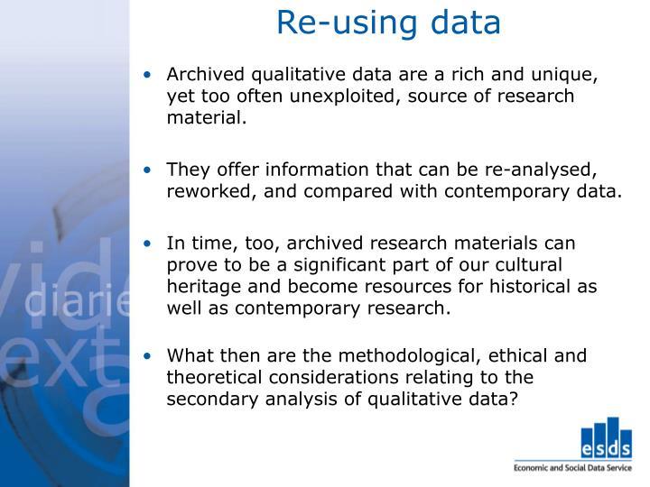 Re using data