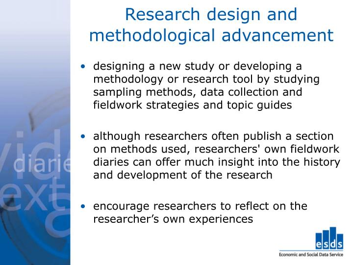 Research design and methodological advancement