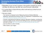 developing surveys from other surveys