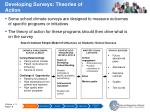developing surveys theories of action