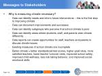 messages to stakeholders