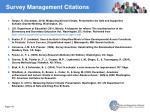 survey management citations