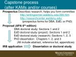 capstone process after kams and or courses