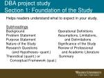 dba project study section 1 foundation of the study