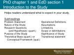 phd chapter 1 and edd section 1 introduction to the study