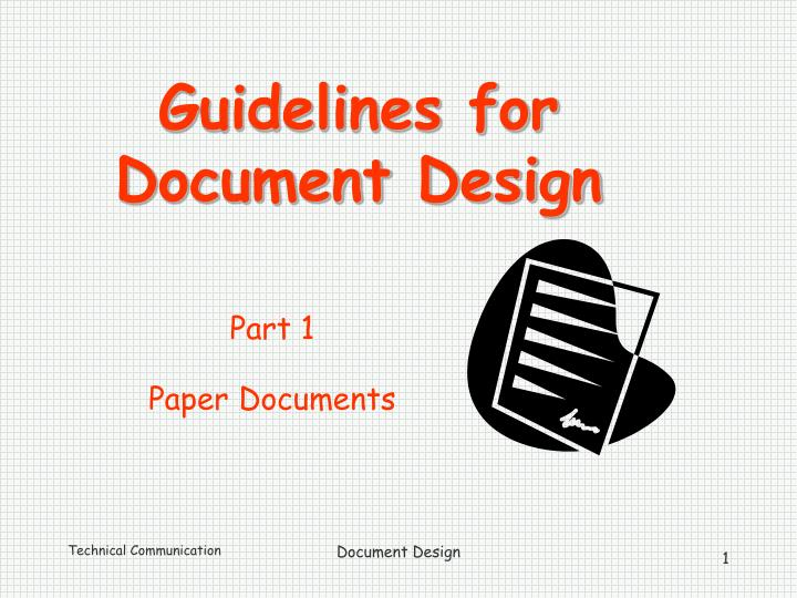 guidelines for document design n.