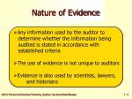 nature of evidence