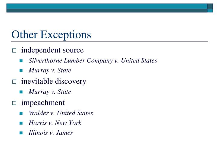 Other Exceptions