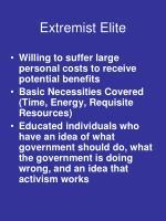 extremist elite
