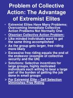 problem of collective action the advantage of extremist elites