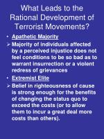 what leads to the rational development of terrorist movements2