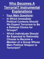 who becomes a terrorist instrumental explanations