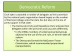 democratic reform