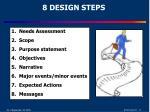 8 design steps