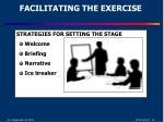 facilitating the exercise