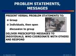 problem statements messages