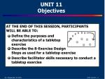 unit 11 objectives