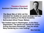 theodore roosevelt assistant secretary of the navy