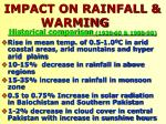 impact on rainfall warming