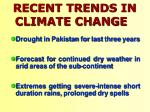 recent trends in climate change