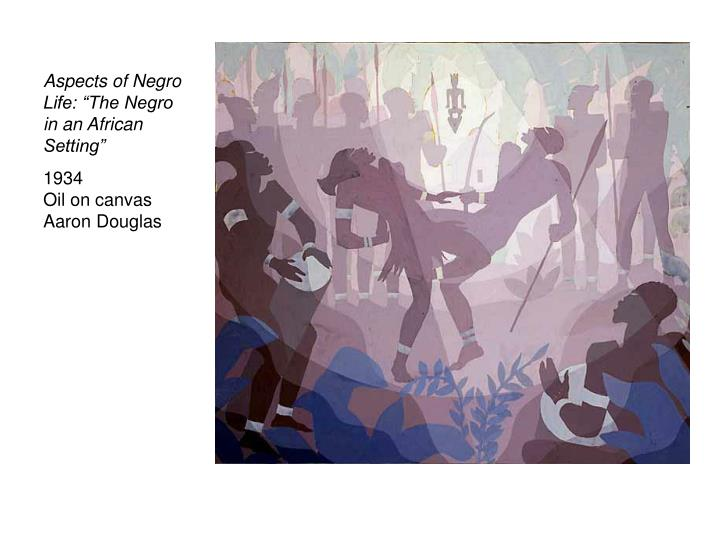 """Aspects of Negro Life: """"The Negro in an African Setting"""""""