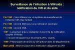surveillance de l infection vih sida notification du vih et du sida