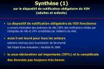 synth se 1 sur le dispositif de notification obligatoire du vih adultes et enfants