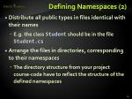 defining namespaces 2