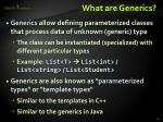 what are generics