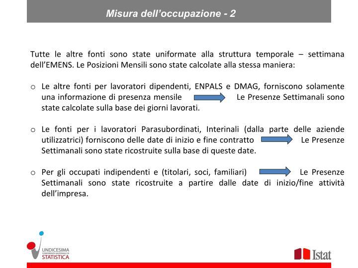 Misura dell'occupazione - 2