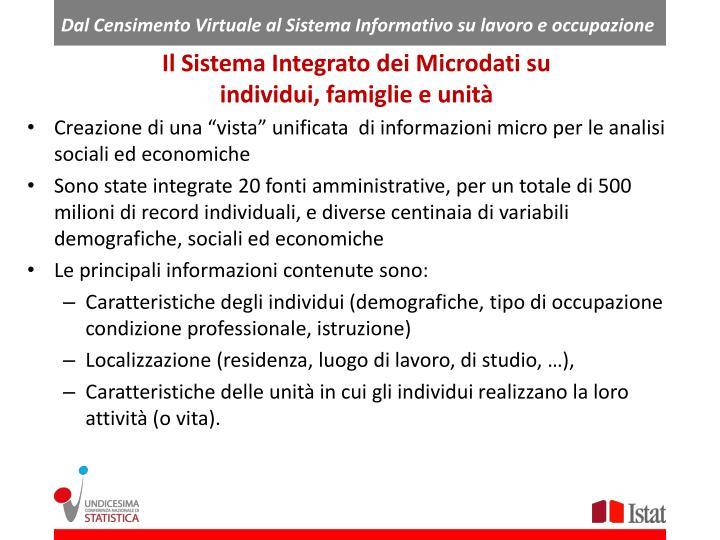 Dal Censimento Virtuale al Sistema Informativo su lavoro e occupazione