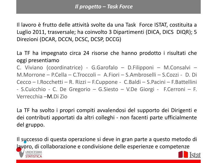 Il progetto – Task Force