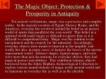 the magic object protection prosperity in antiquity1