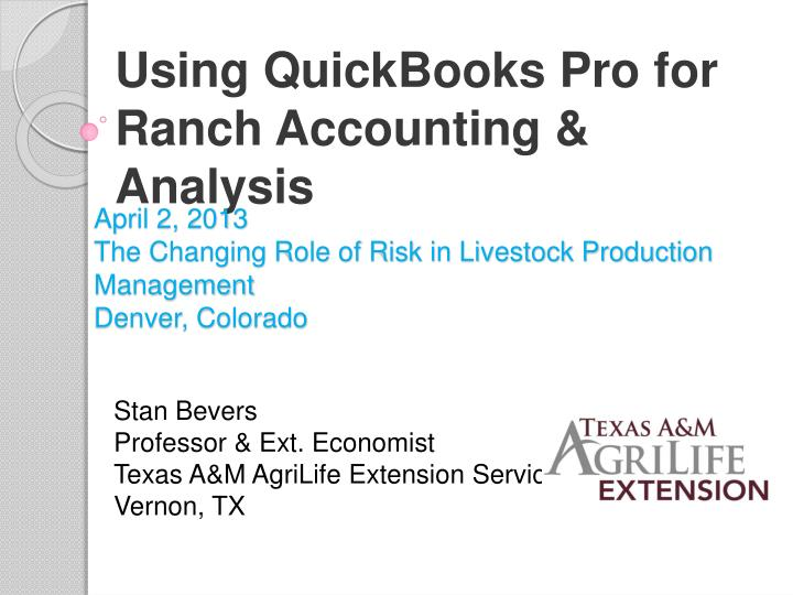 april 2 2013 the changing role of risk in livestock production management denver colorado n.