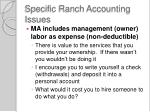 specific ranch accounting issues2