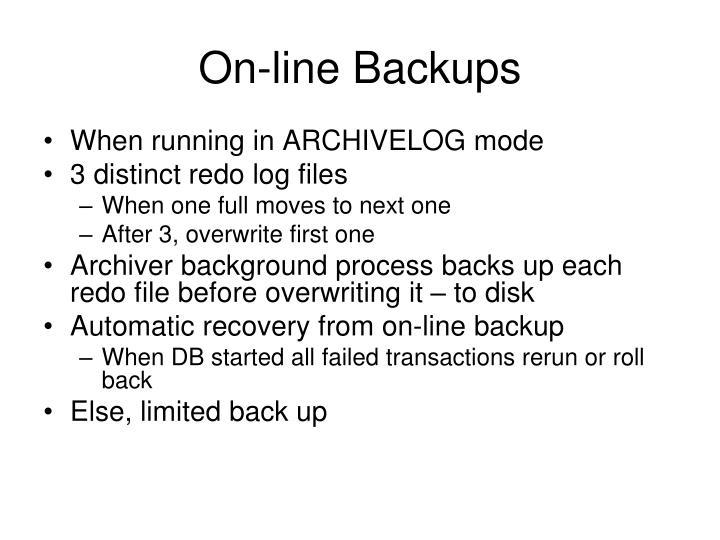 On-line Backups