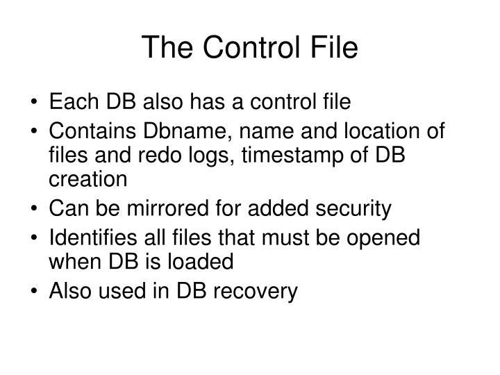 The Control File