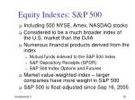 equity indexes s p 500