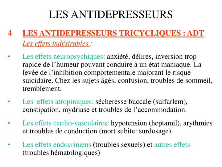 PPT - LES ANTIDEPRESSEURS PowerPoint Presentation - ID:1410766
