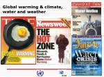 global warming climate water and weather