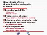 how climate affects timing location and quality of water