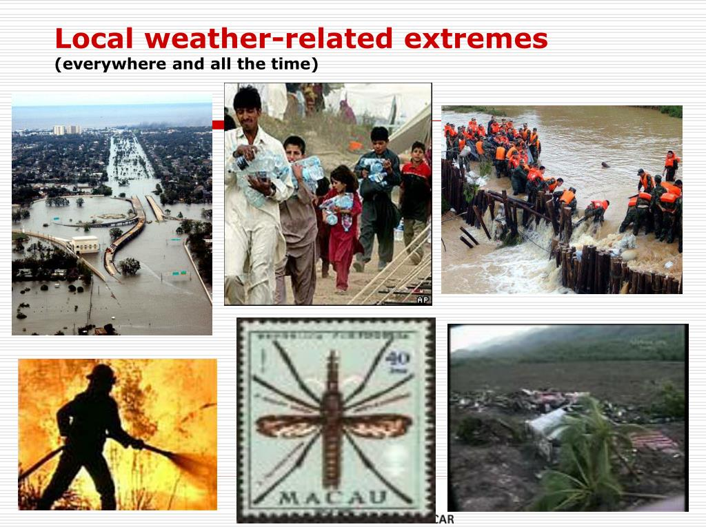 Local weather-related extremes