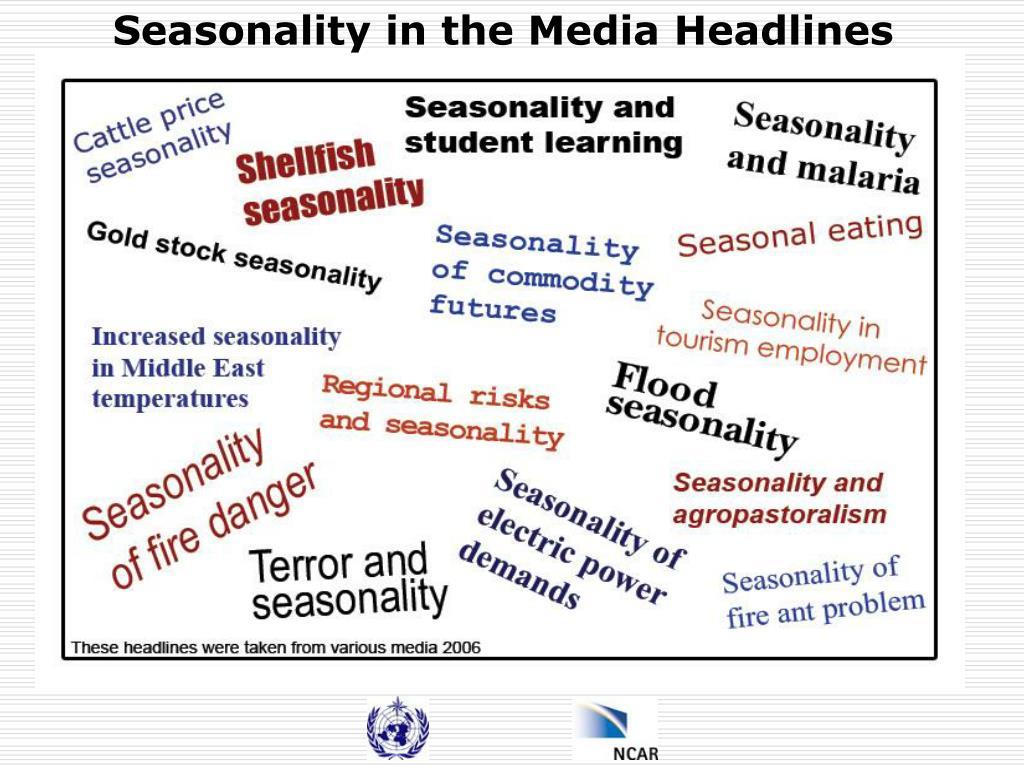 Seasonality in the Media Headlines
