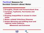 tactical reasons for societal concern about water
