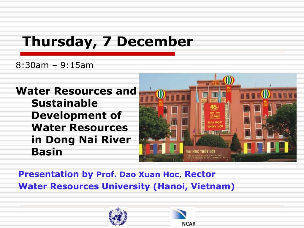 Thursday, 7 December