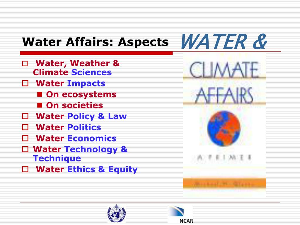 Water Affairs: Aspects