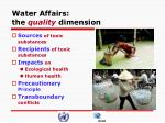 water affairs the quality dimension
