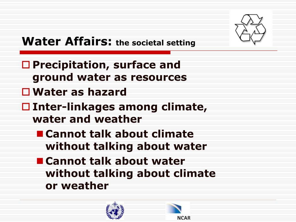 Water Affairs: